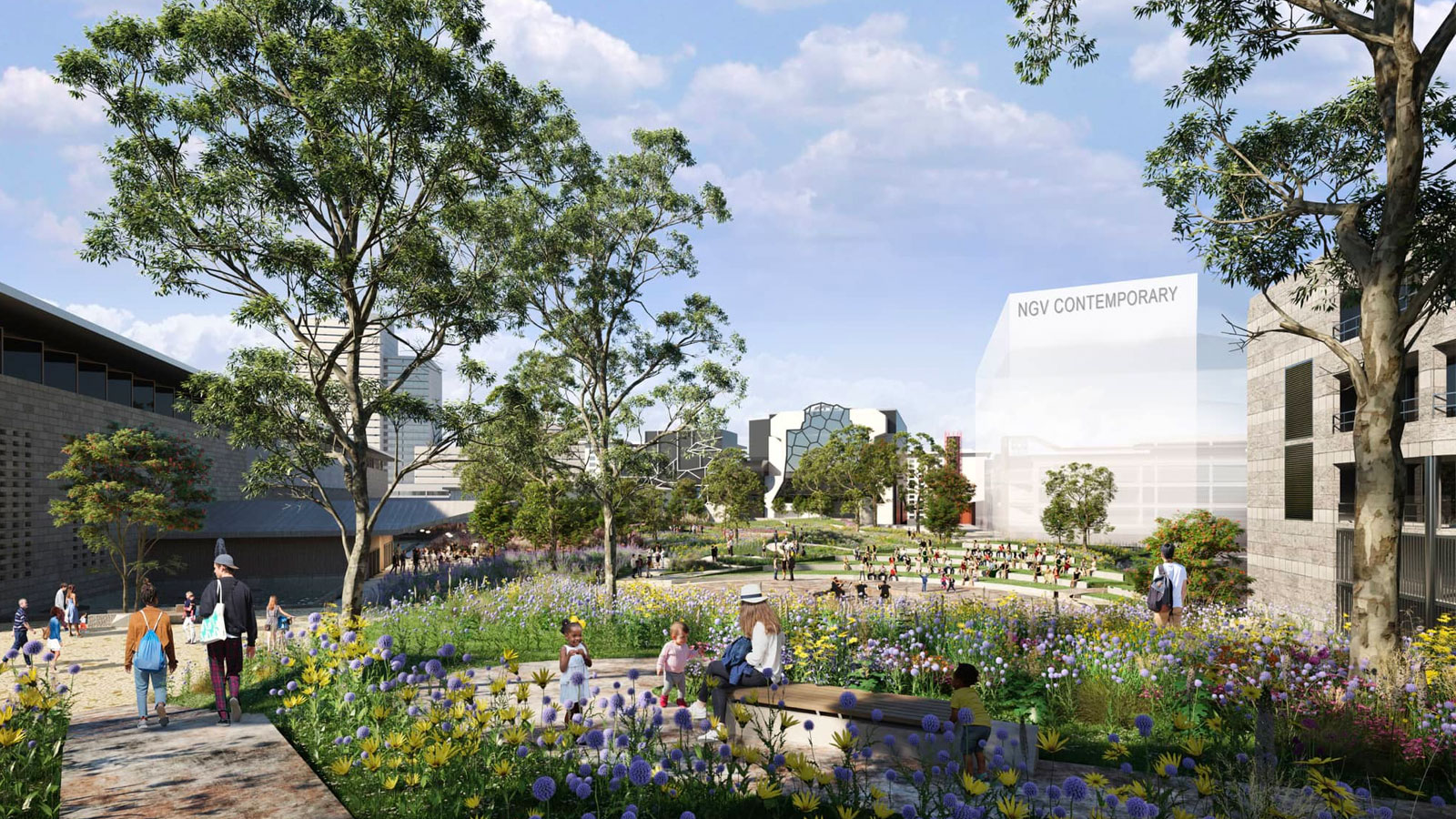 The redevelopment of the Melbourne Arts Precinct, masterplanned by ARM Architecture and TCL, was first announced in 2018.