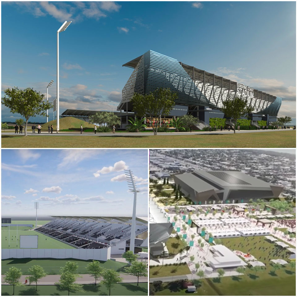 Sunshine Coast Stadium development olympics