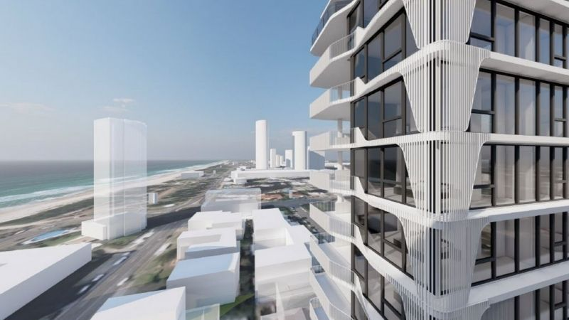 ▲ Thinning beachside development site opportunities are heralding a new era of slimline residential high-rises on the Gold Coast.