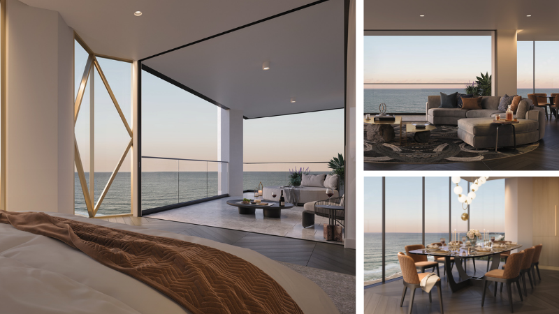 ▲ Prices for the full-floor Manhattan-inspired apartments start at $4.95 million. Images: Luxe Broadbeach