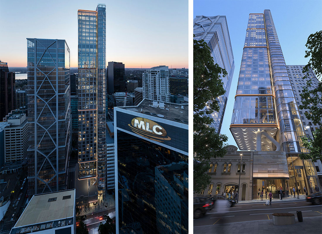 88 Walker Street, has just been re-submitted to be the tallest building in North Sydney, forming part of the new core of the North Sydney CBD.