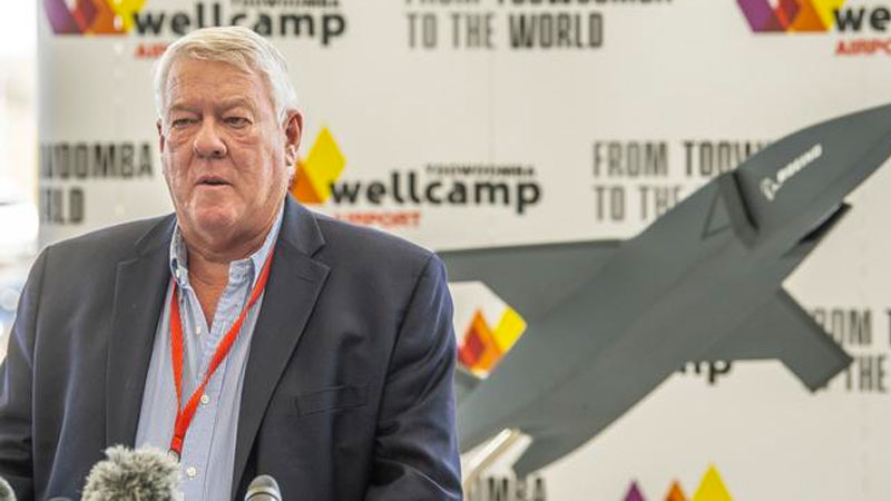 John Wagner from Wellcamp Airport. Boeing to produce Loyal Wingman at Wellcamp Aerospace Precinct. Boeing to produce Loyal Wingman at Wellcamp Aerospace Precinct. Picture: Nev Madsen.