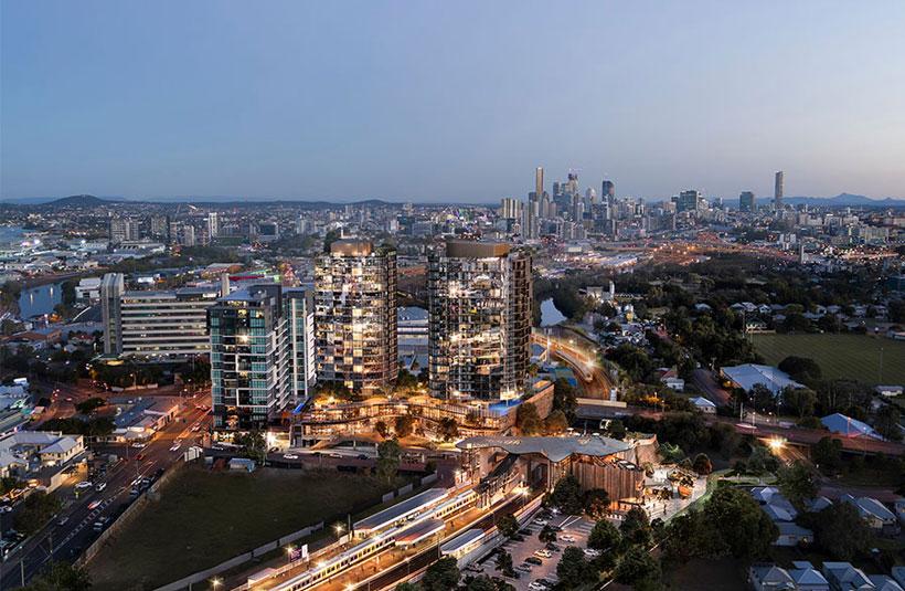 Albion Exchange Brisbane development project construction
