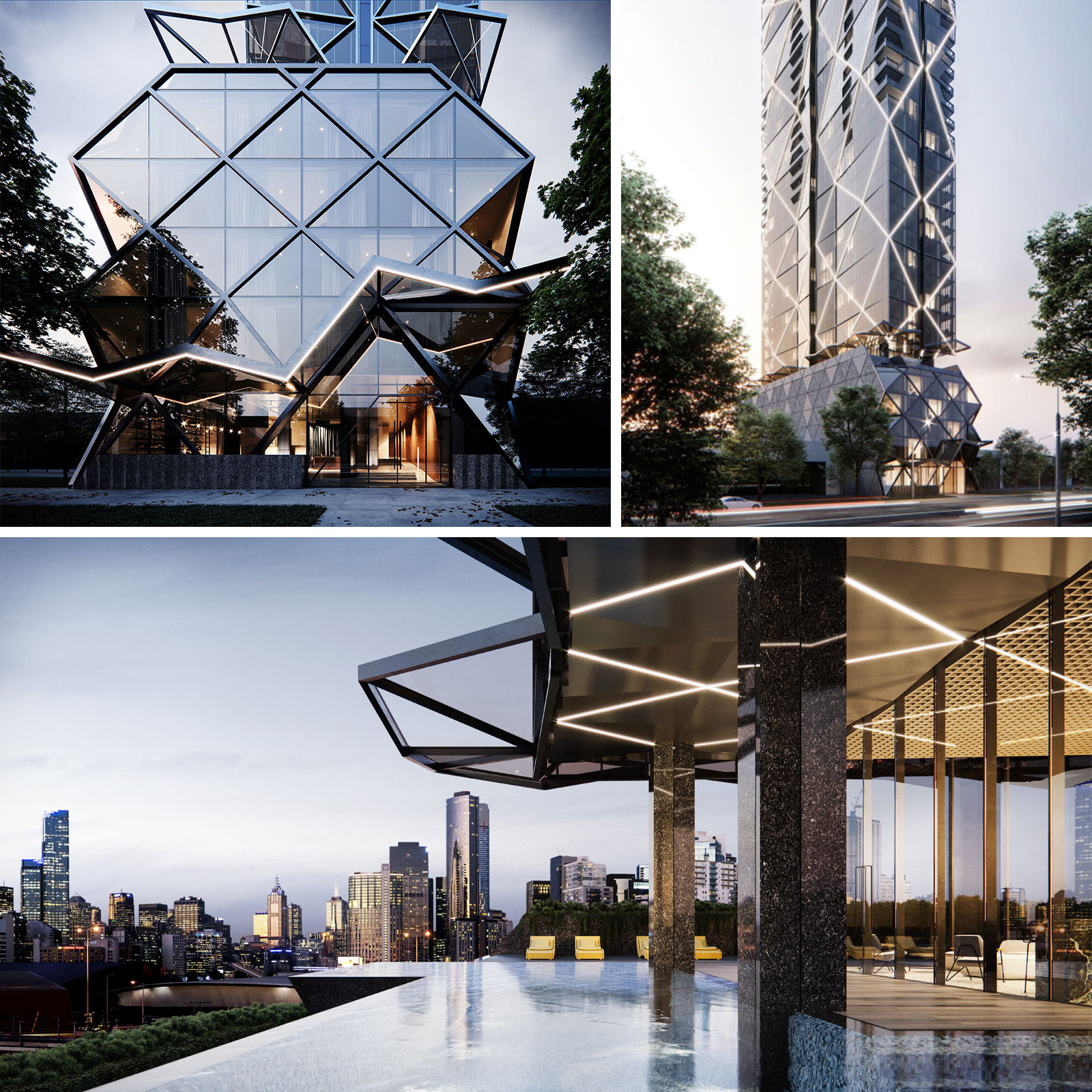 AC Melbourne Southbank will feature an infinity edge cantilevered pool spanning the width of the building with unique city views.