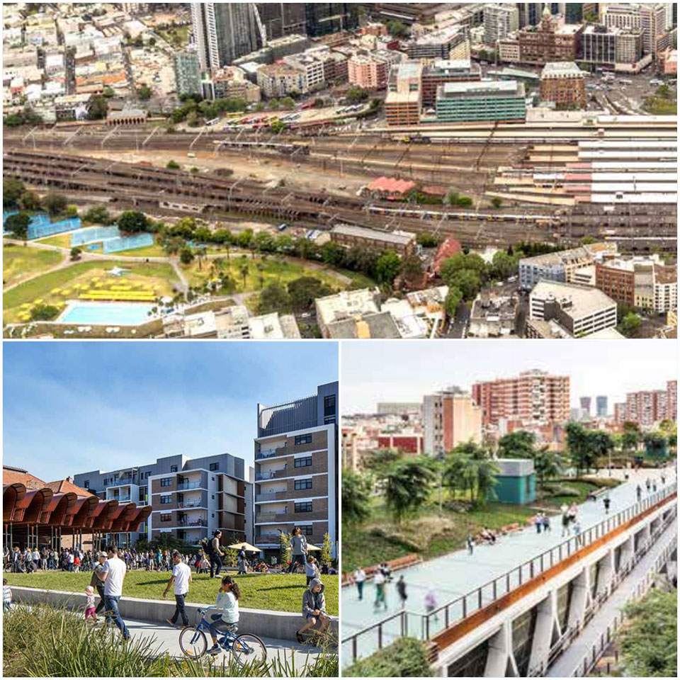 ▲ The draft strategy includes precedents of public connections and pedestrian walkways, including Sydney's Green Square.