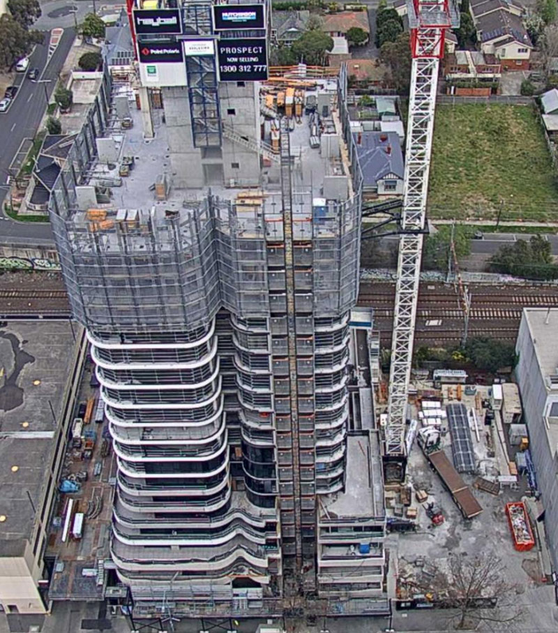 ▲ Hutchinson Builders have closed at least 13 sites under way in Melbourne, including the $75m Prospect tower in Box Hill.
