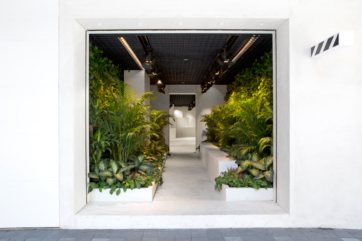 """""""A store for Off-White that gives a jungle back to Hong Kong."""" - Family New York"""