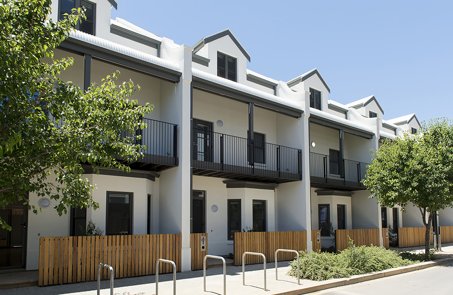 The Prince's Terrace Adelaide in the revitalised area of Bowden SA