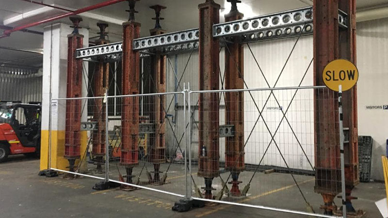 Mascot Towers Structural supports in basement.