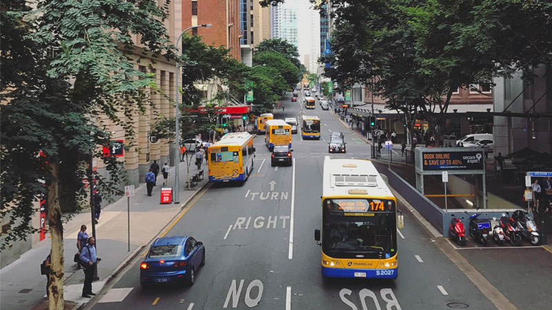 Adelaide Street ties together some of Brisbane's most visited civic spaces,  including City Hall and Anzac Square. Image: Reddit