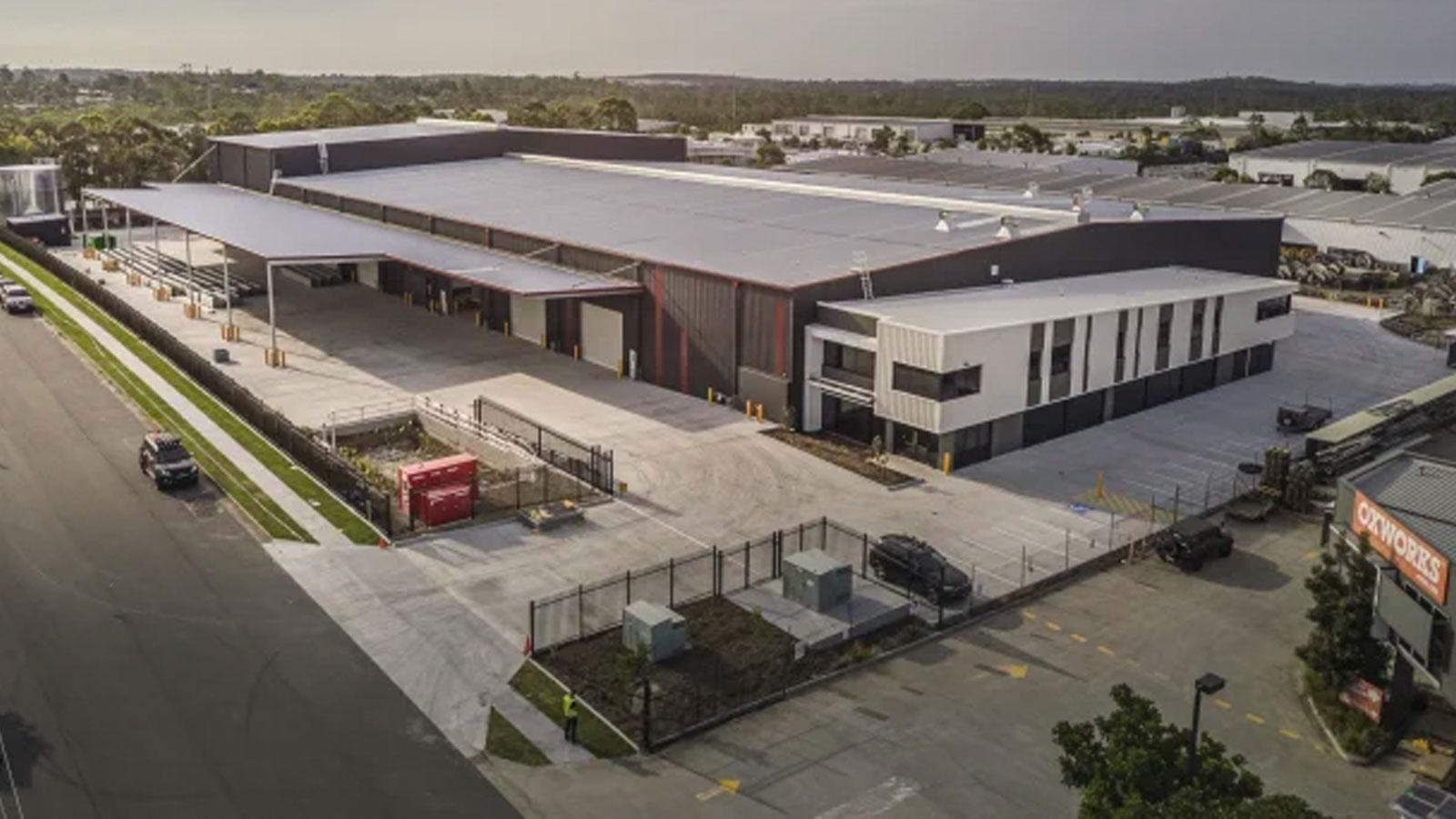 The logistics facility at Crestmead near Brisbane, part of the Ascot Capital portfolio.