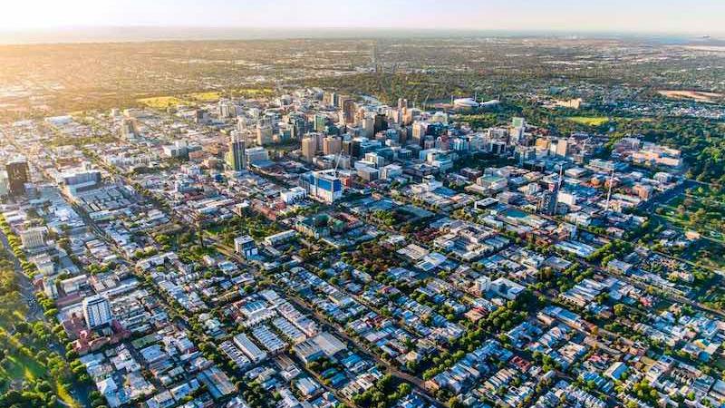 Adelaide CBD aerial