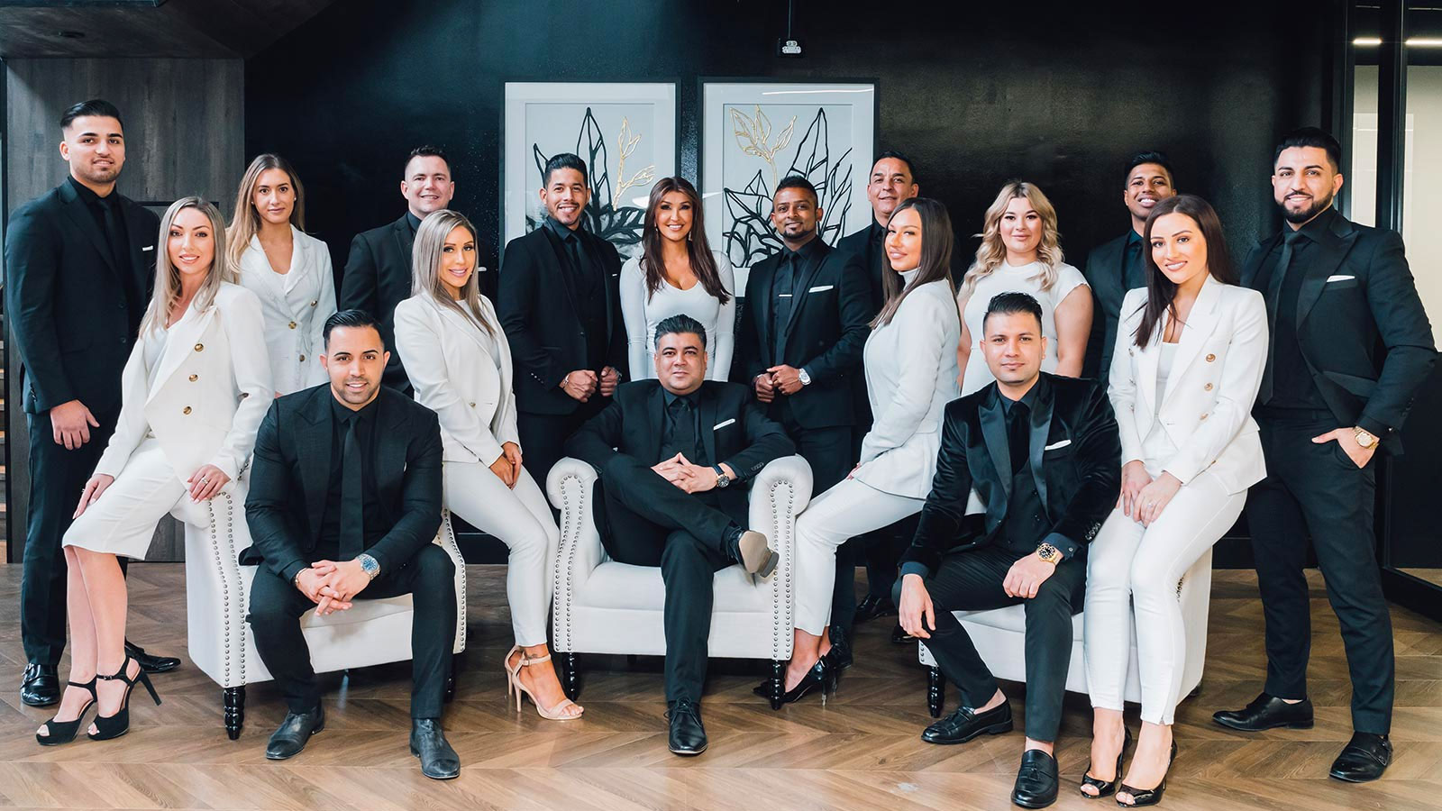 ▲ The team at Z Real Estate, celebrity agent Zed Nasheet's agency. That's him seated on the right.