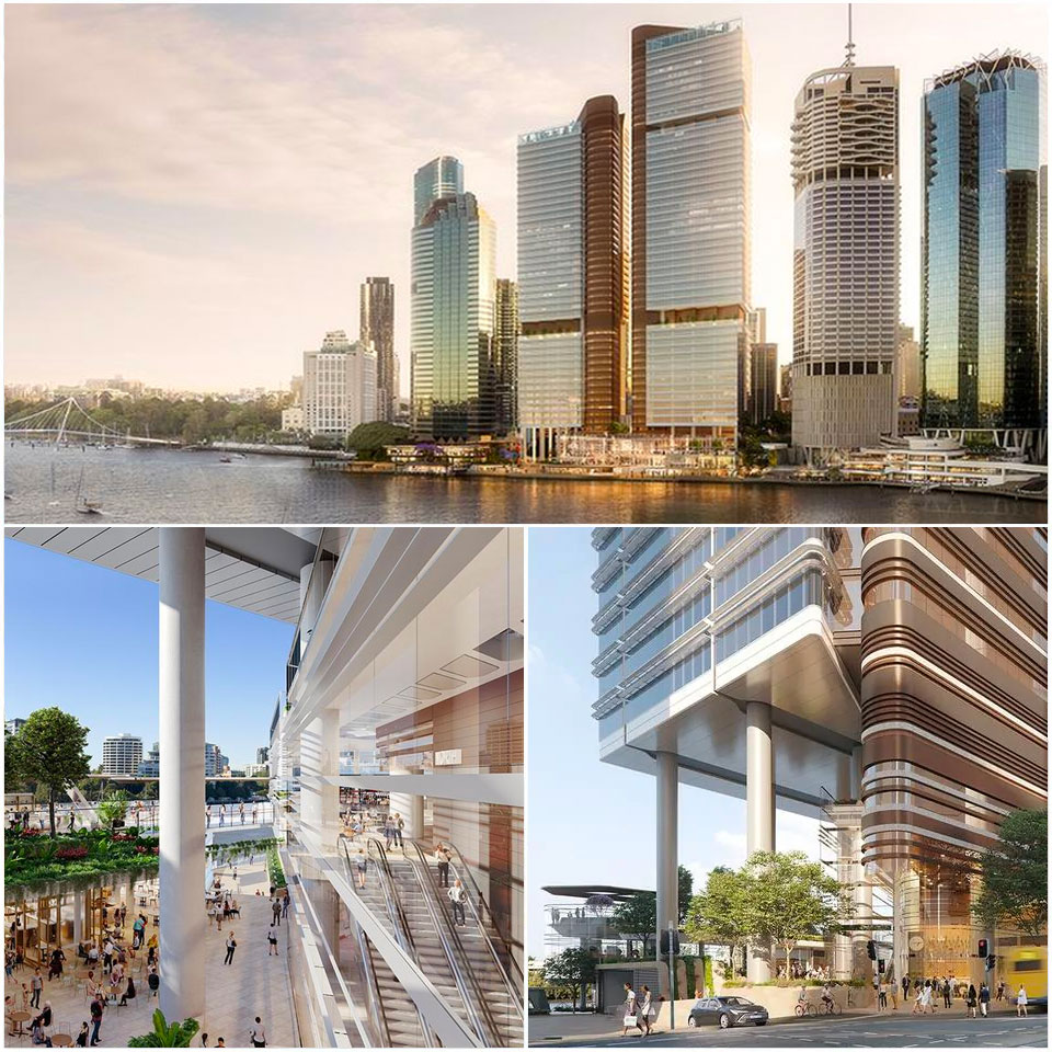 ▲ Eagle Street Pier and Waterfront Place. Image: Fjmt/Arkhefield
