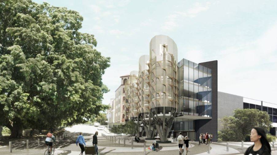 """The University of Newcastle will soon submit a development application for seven buildings on the former railway site in Honeysuckle. The university has confirmed that an """"innovation hub"""" will be the first building to be built."""