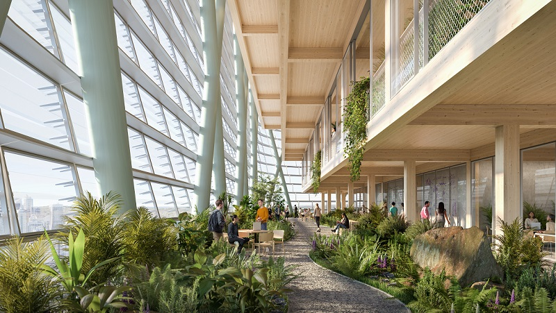 ▲ The building at the Tech Central precinct includes a mix of indoor and outdoor terraces with natural ventilation.