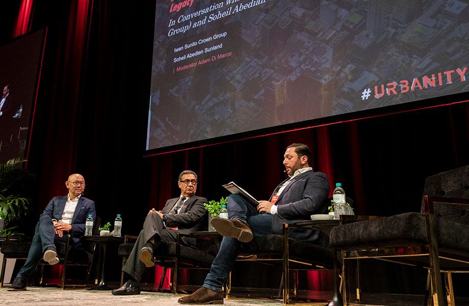 Crown Group founder Iwan Sunito in conversation with Sunland founder Soheil Abedian and The Urban Developer's Adam Di Marco at this year's Urbanity.