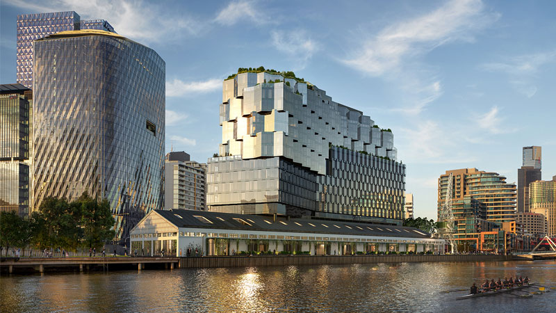 Riverlee's hotel and apartment project on the north bank of the Yarra in the Melbourne CBD.