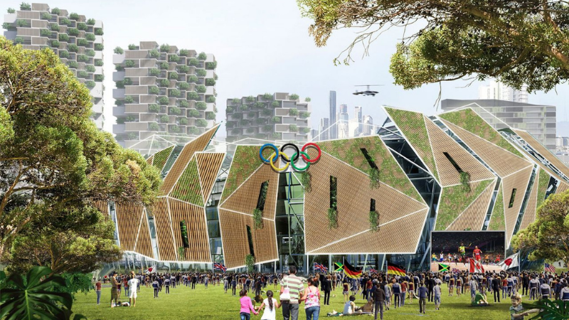 ▲ The blueprint for Brisbane 2032 Olympic Games would provide a once-in-a-century opportunity to bring forward Southeast Queensland development. Image: Urbis