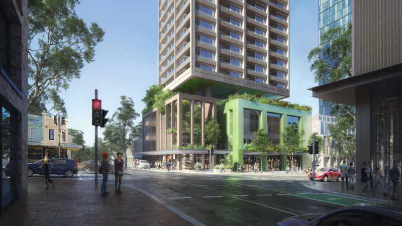 ▲ The 24-storey tower would feature a four-storey podium and a 19-storey residential tower with a mix of one and two-bedroom apartments.