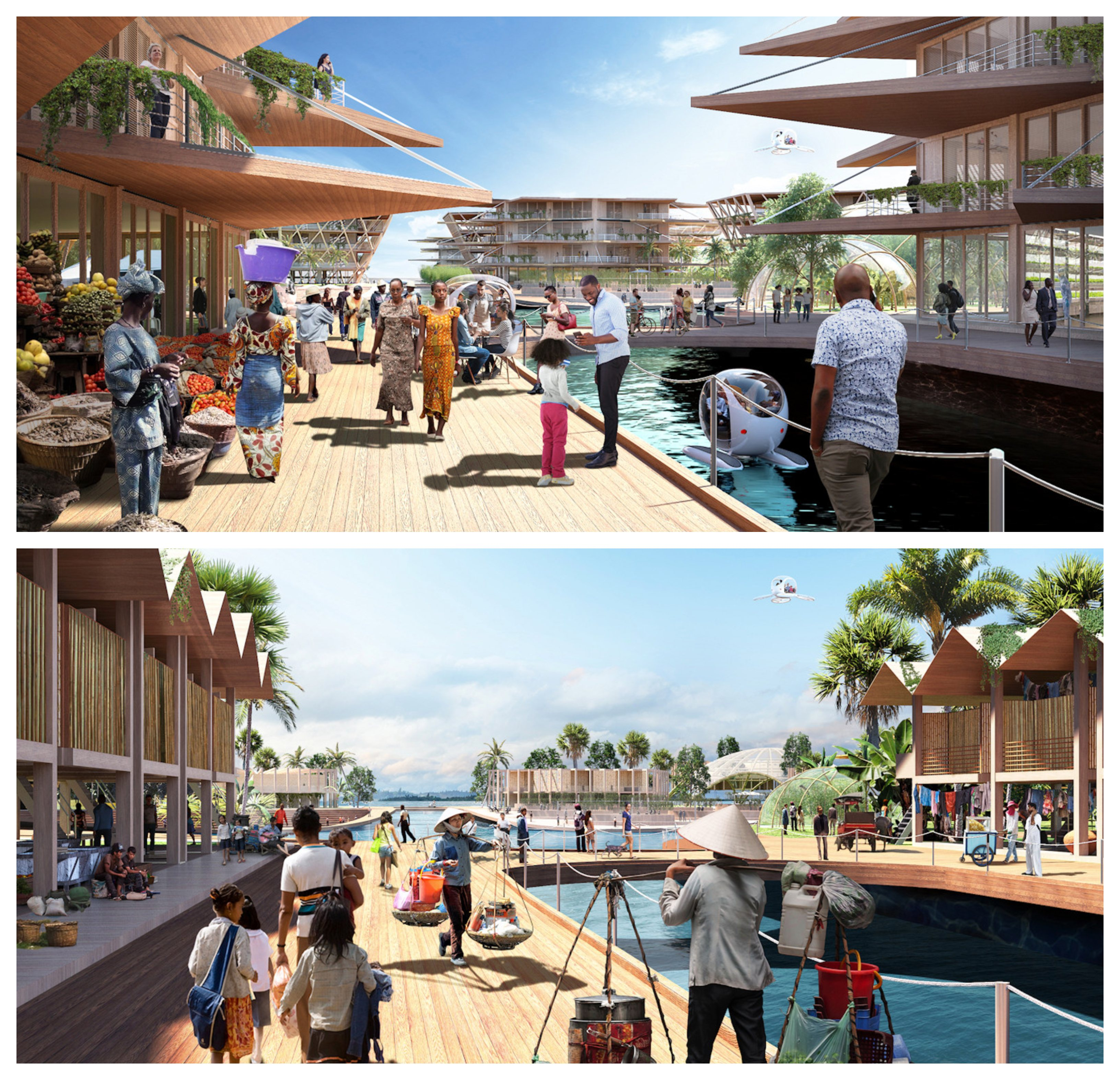 Oceanix City was designed by architect Bjarke Ingels in collaboration with Oceanix.