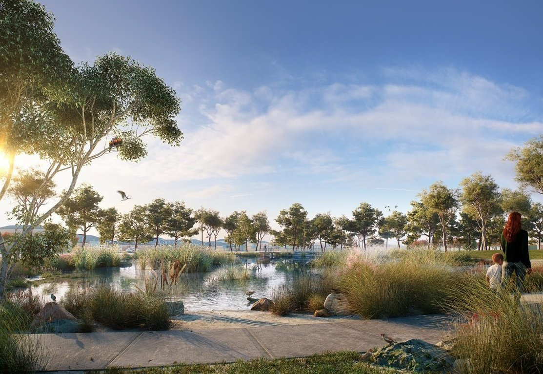 Four hectares of the Windermere masterplanned community be dedicated to scenic wetlands.