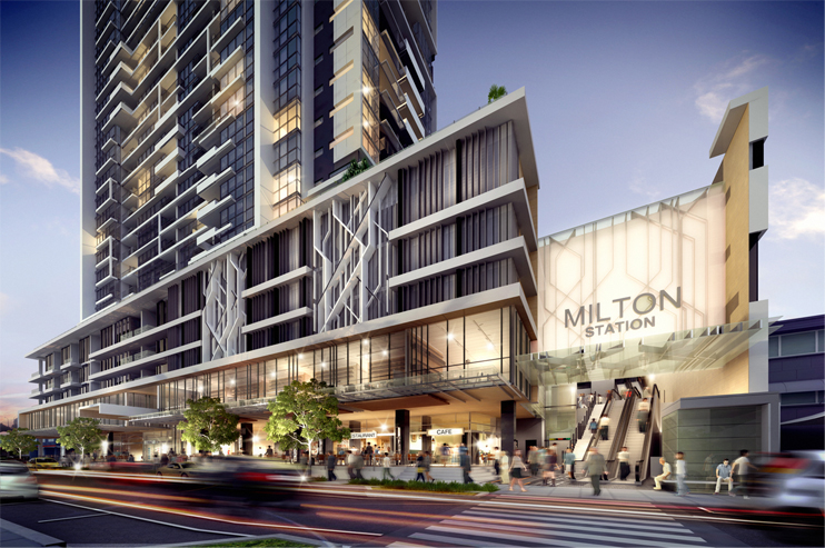 """Tian An developed """"The Milton"""" a 30-storey apartment block in Brisbane's inner west."""