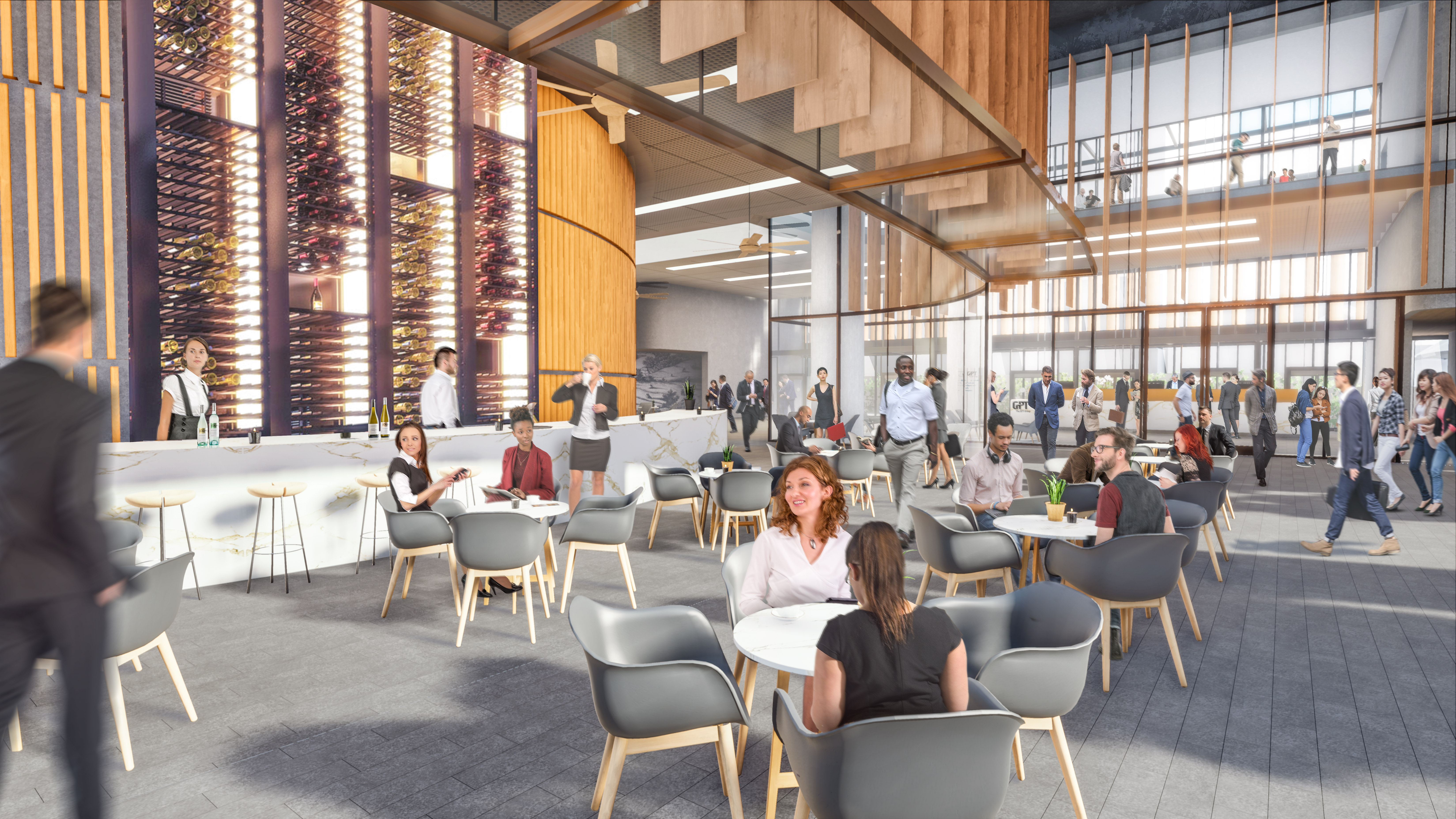 GPT's Approved ground level Interior Visualisation at 32 Smith Street, Parramatta.