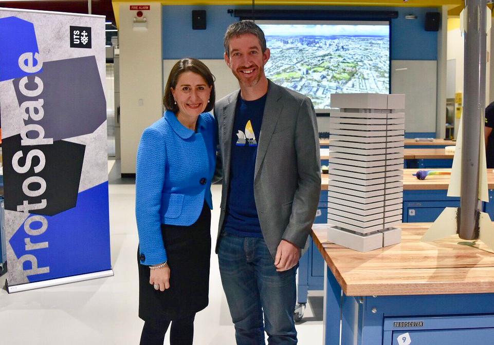 NSW Premier Gladys Berejiklian and co-founder Scott Farquhar unveiled plans for Sydney's new tech hub this week.