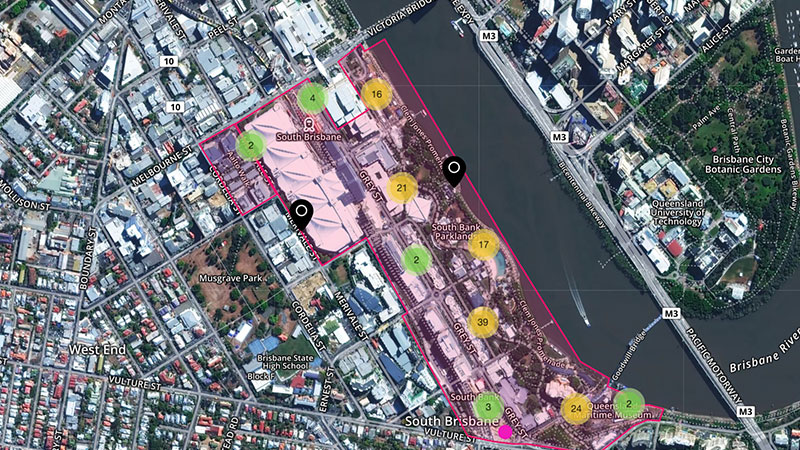 ▲ The online mapping tool open to the public for the master plan process.