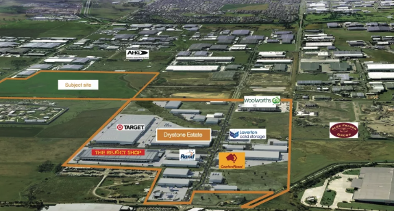 Charter Hall paid $55m for 442-540 Doherty's Road Truganina, with plans to develop a $330m industrial park.
