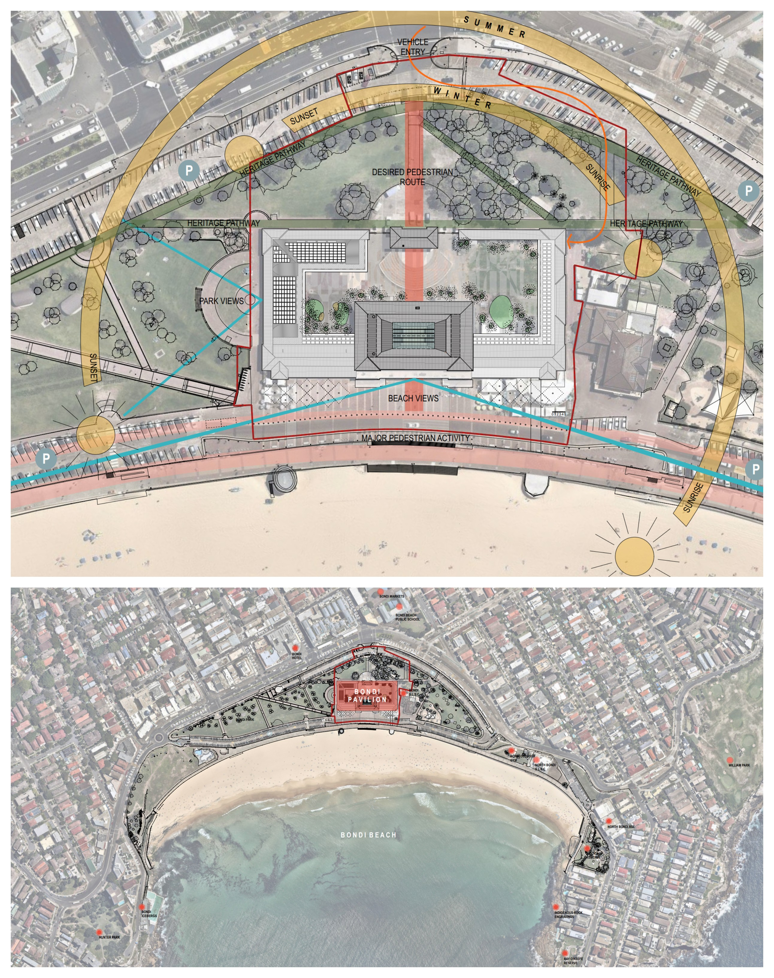 The Pavilion restoration is part of the wider plans dubbed Bondi Blueprint, set to upgrade the area.