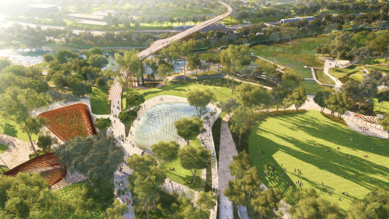 ▲ More than 16,000 people contributed to the design-led transformation of the golf course into parklands.