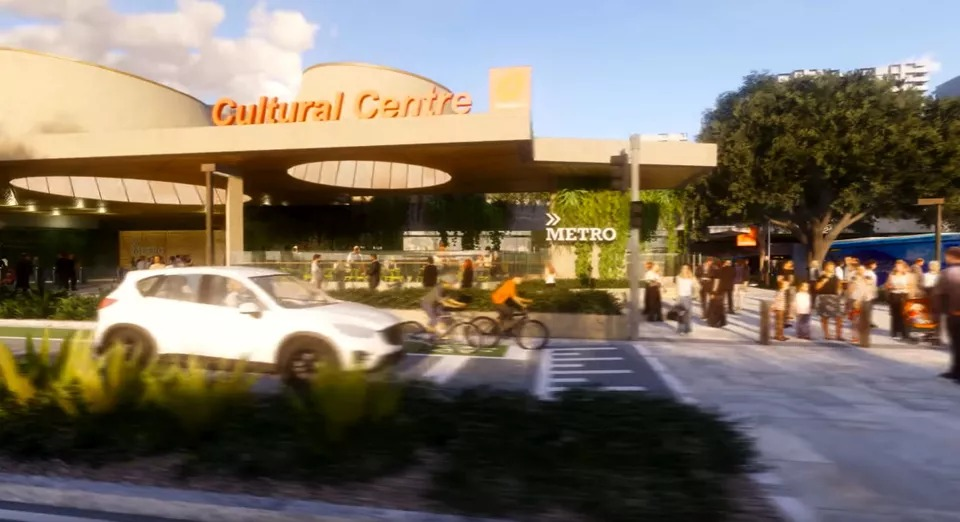 The government released new vision of the $315 million Brisbane Metro underground station at the Cultural Centre.