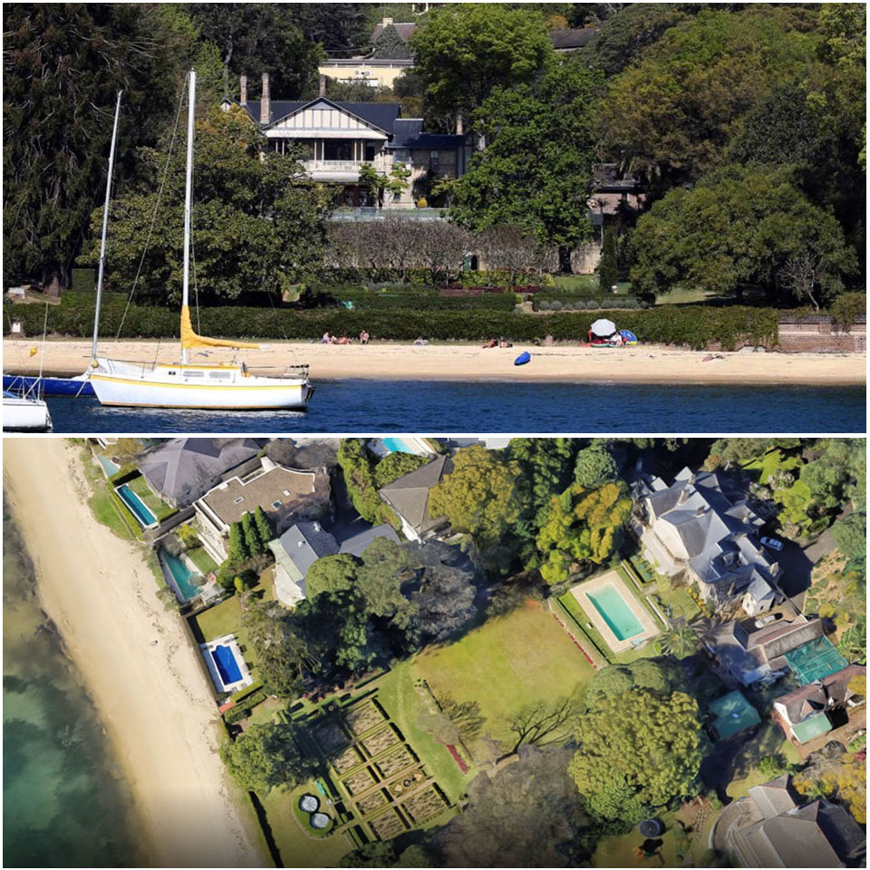 ▲ The property represents the largest privately-owned beachfront landholding on Sydney Harbour.