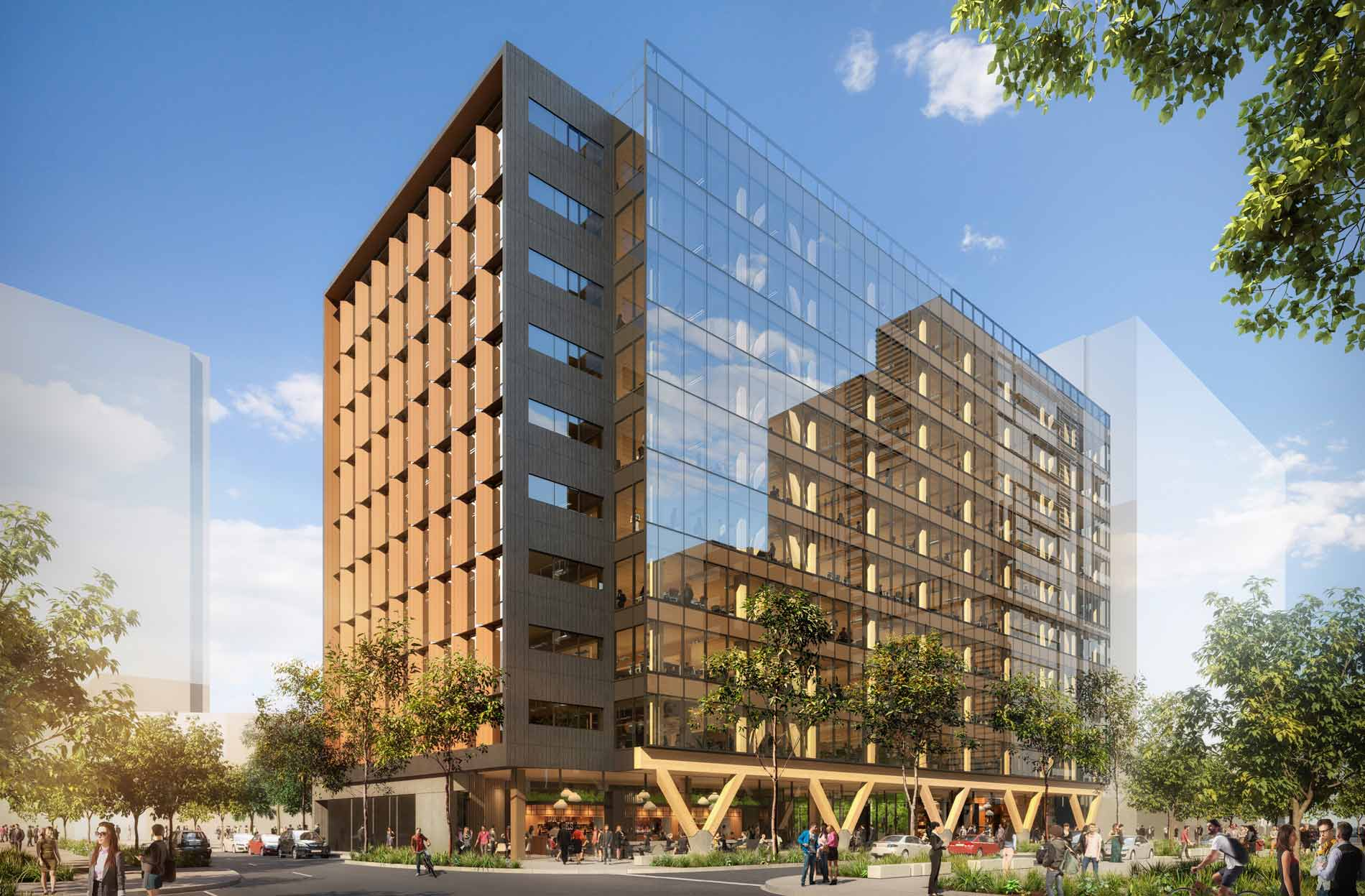 Acting Premier and Minister for Infrastructure and Planning Jackie Trad said 25 King was breaking new ground in its use of structural timber in a building of its type and size.