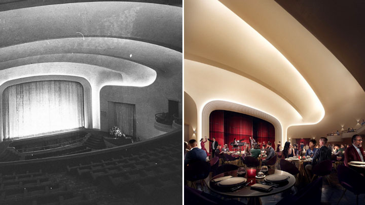 ▲ Heritage will be retained and an entertainment auditorium will be reinstated as part of plans for the $50m Minerva Theatre redevelopment. Image: Central Element