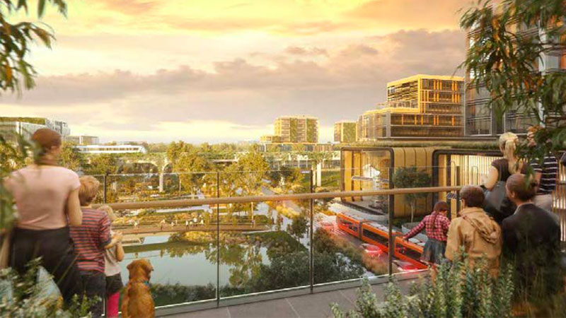 """▲ The Aerotropolis is billed as the westernmost component of the """"three cites"""" vision for Sydney. Image: Aerotropolis concept"""