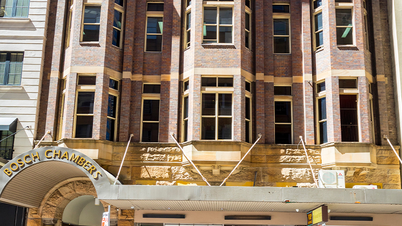 A seven-storey heritage building at 114 Castlereagh Street is one of two adjacent retail / office properties in the tightly-held Sydney Midtown precinct being sold by publican Kim Maloney.