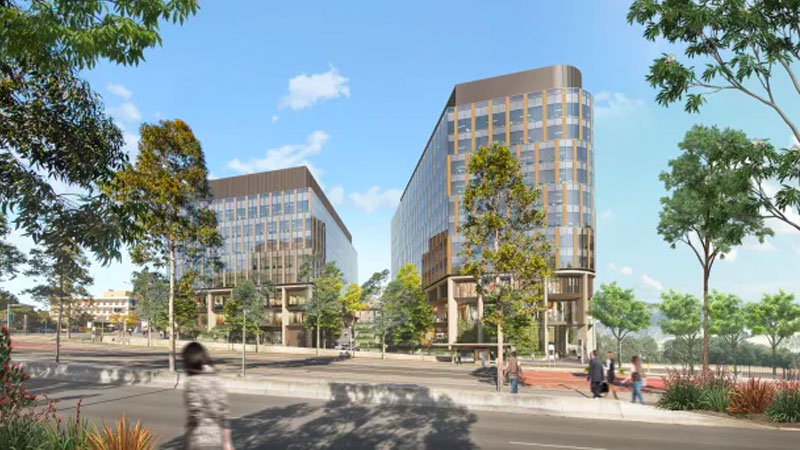 Artist impression of the Charter Hall Group and Western Sydney University's proposed Innovation Quarter, Westmead, Sydney