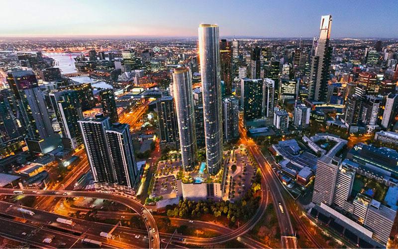 Melbourne Square development construction