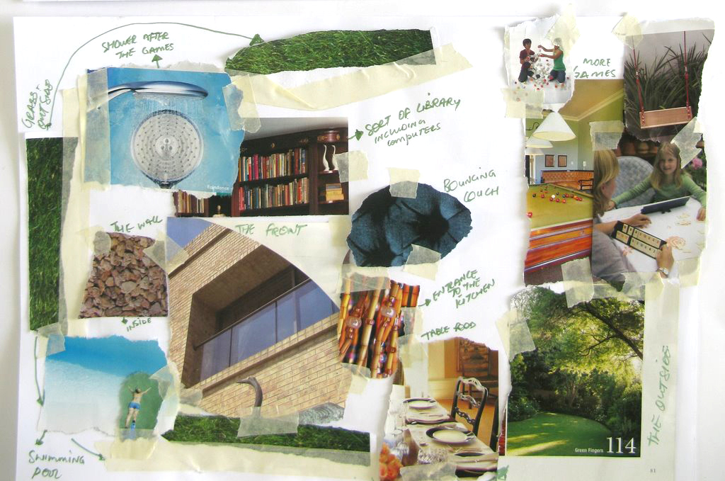 One of the original collages from Stanescu's work with Architecture For Humanity