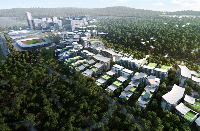Springfield CBD masterplan development construction