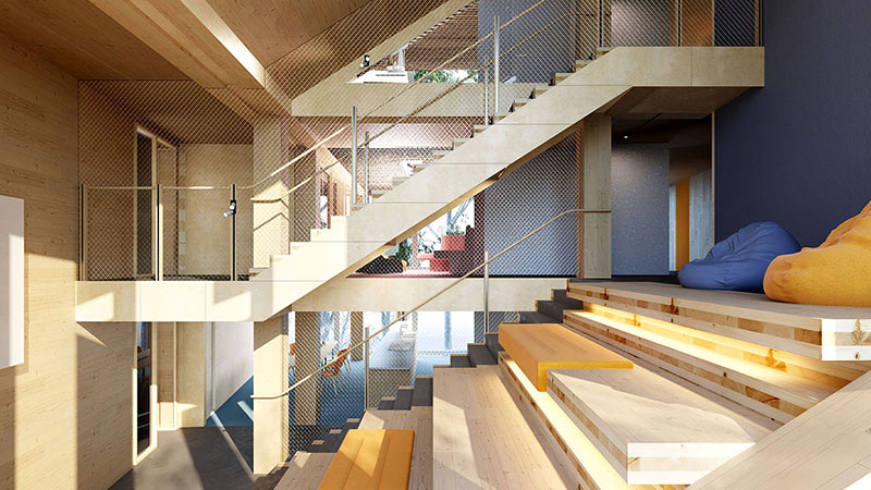 ▲ The new 624-bed student accommodation building at La Trobe University's Bundoora campus will be the largest mass timber building in Victoria.