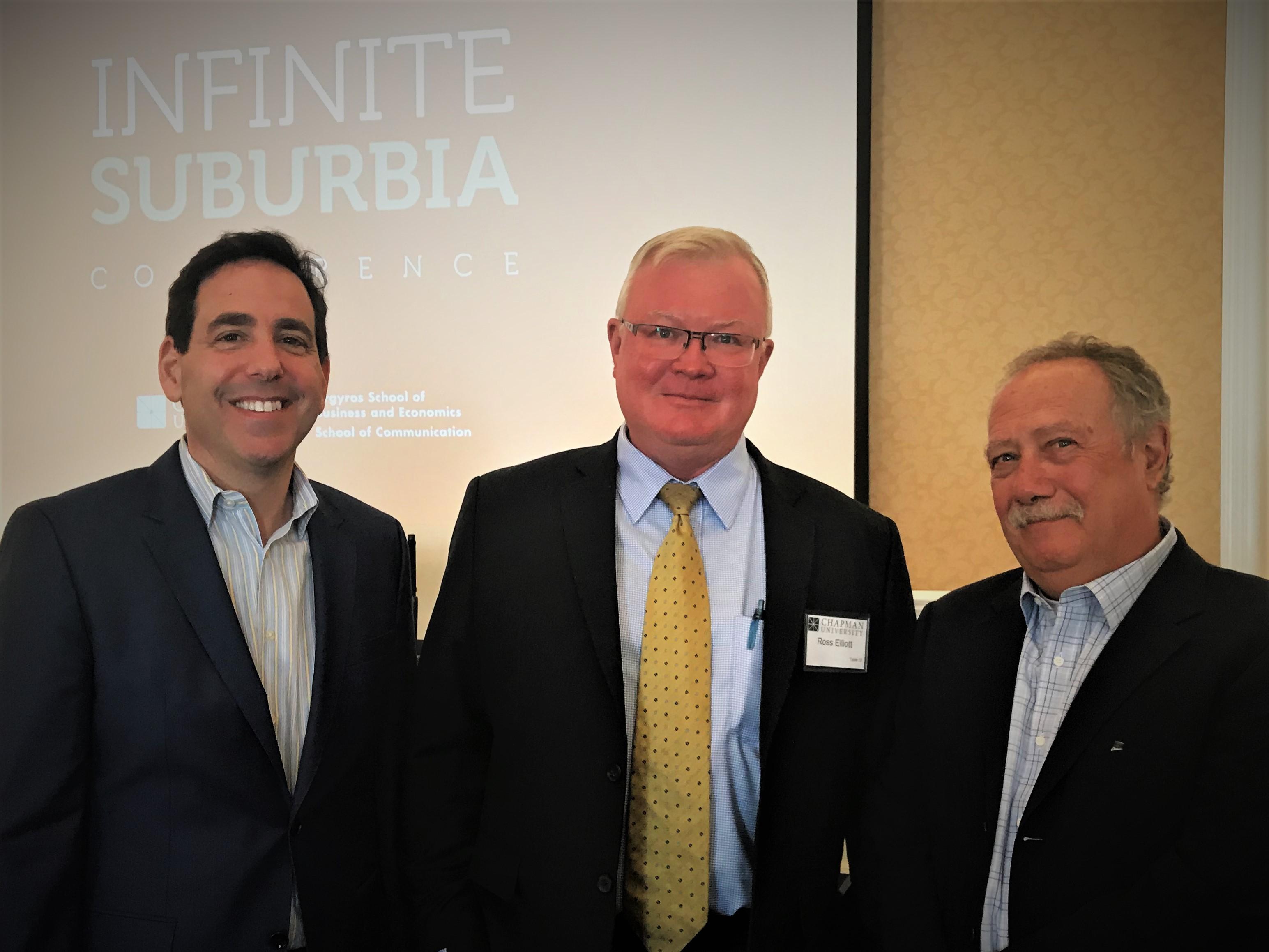 Featured left to right: Alan M. Berger, Ross Elliot, Joel Kotkin
