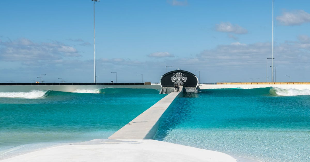 ▲ Urbnsurf's existing wave park in Melbourne takes up 5.4ha owned by Melbourne Airport.