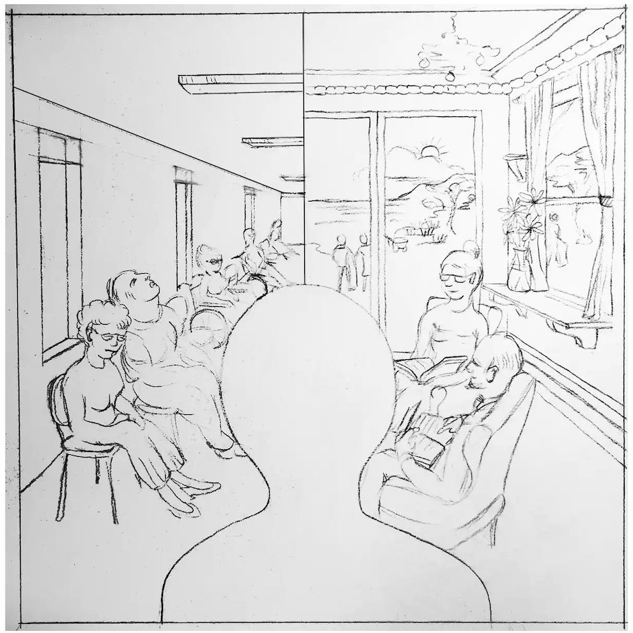 Aged-care facilities can be institutional (left) or residential (right), it's all a matter of priorities in their design. Jan Golembiewski, © Psychological Design, Sydney 2020, Author provided (No reuse)