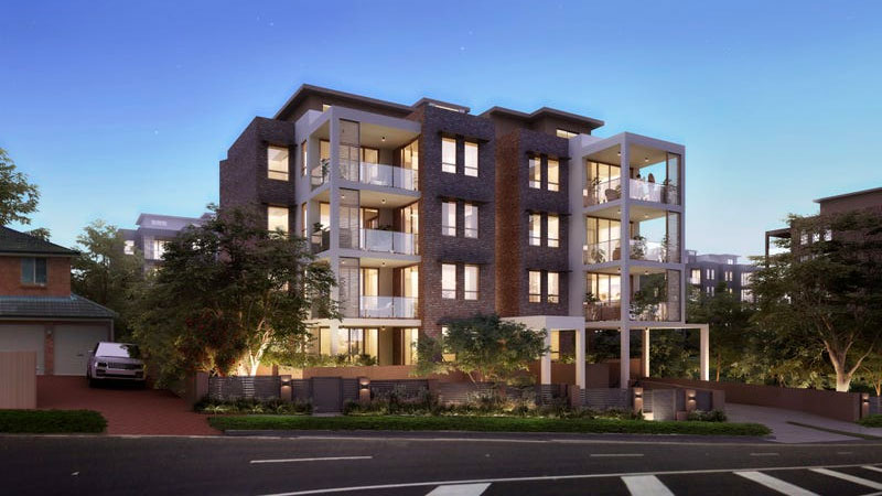 Green Hub, apartments at 417-419 Pacific Highway, Asquith.