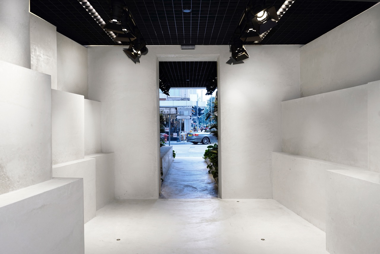 """""""The Quarry-like interior functions as a gallery, retail or performance space, pending on the nature of Mr. Abloh's collection and performances."""" - Family New York"""