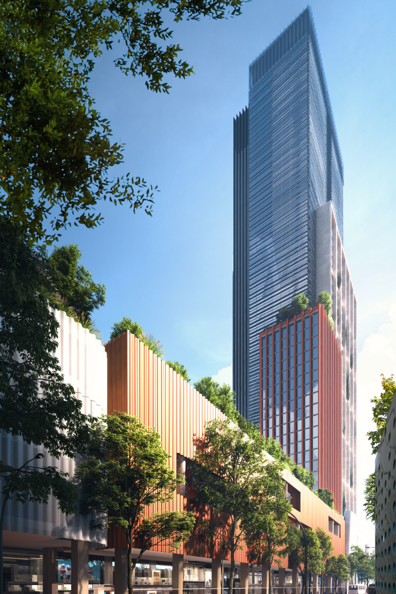 ▲ Scentre Group's proposed 47-storey commercial tower will be the third tallest building in Parramatta.